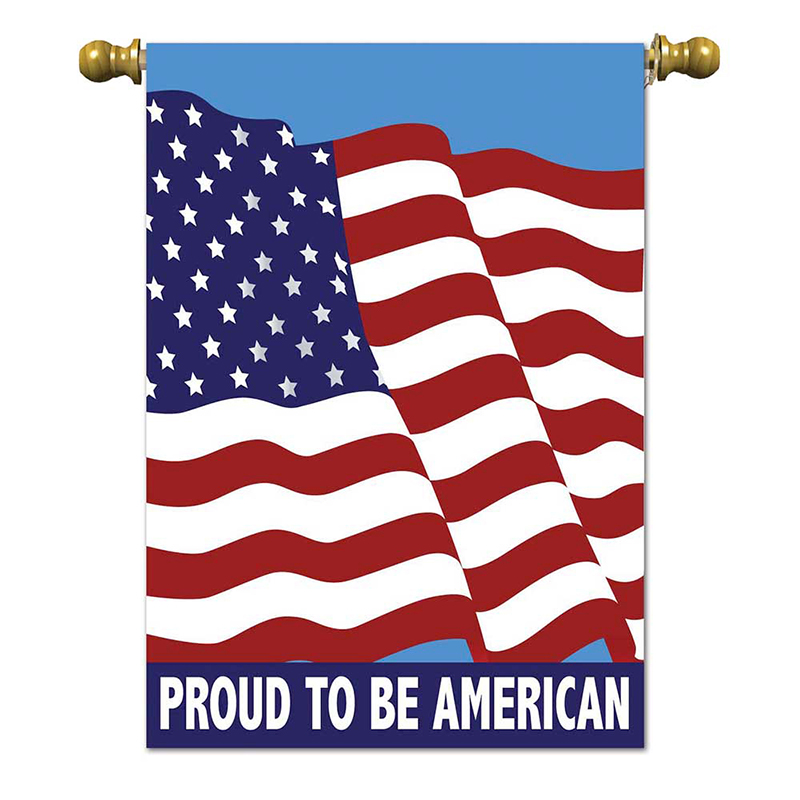 Proud to be American House Flag