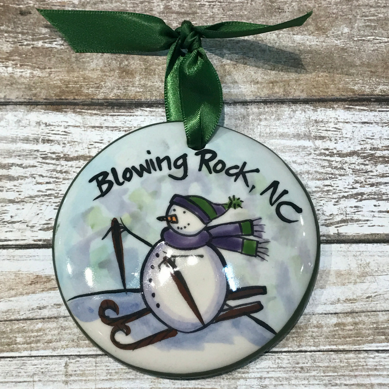 Blowing Rock Skiing Ornament