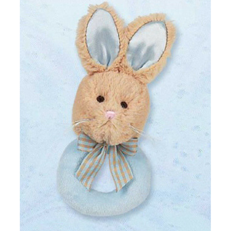 Lil Bunny Tail Rattle Blue