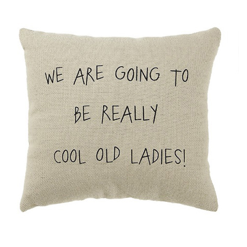 Cool Old Friends Pillow