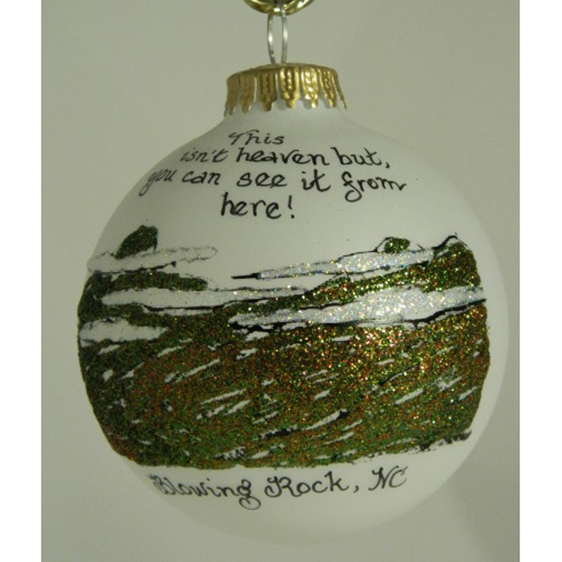 Blowing Rock Mountain Top Ornament