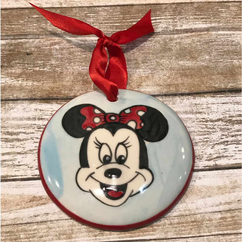 Minnie Mouse Flat Ornament