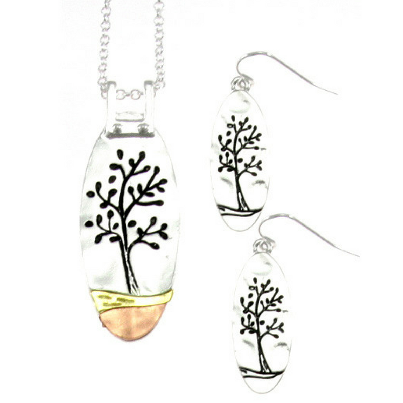 Life Tree Necklace Set