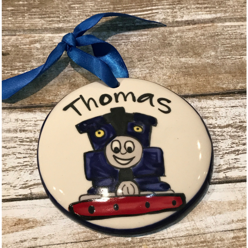 Thomas Train Flat Ornament