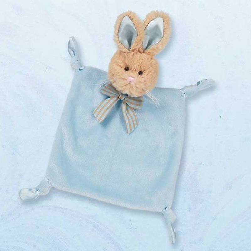 Wee Bunny Tail Blankie Blue