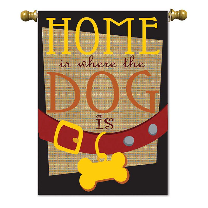 Home the Dog Is Garden Flag