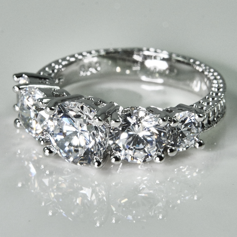 Tiered Princess Cut Ring
