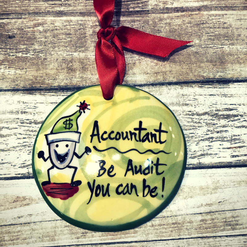 Accountant Flat Ornament