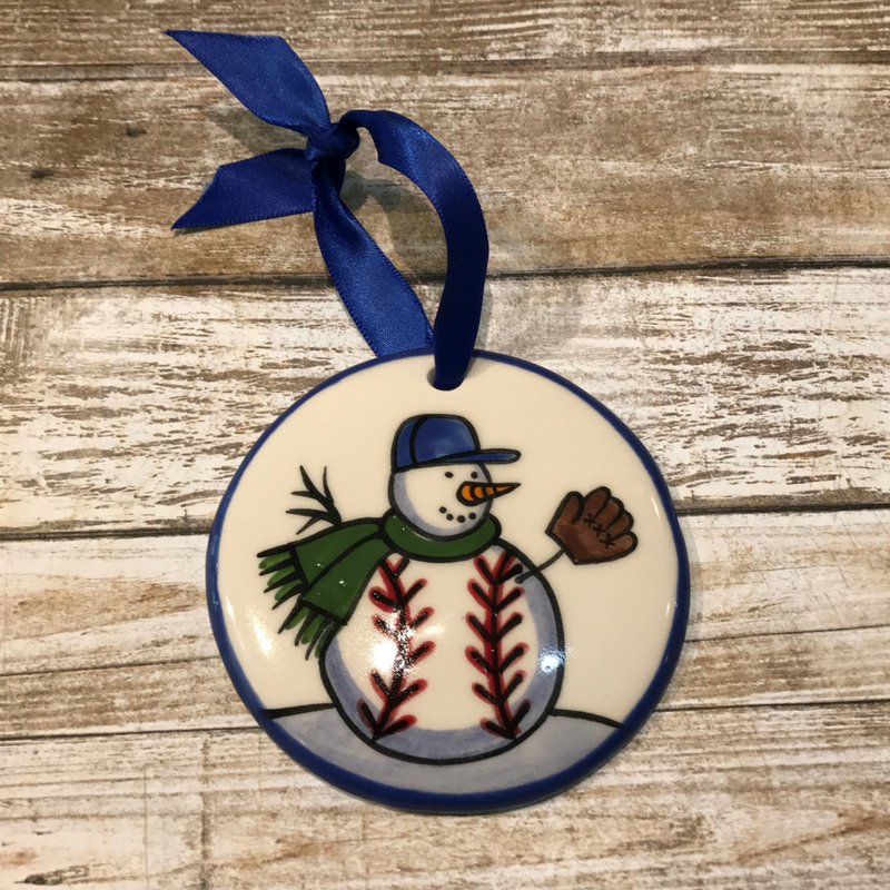 Baseball Flat Ornament