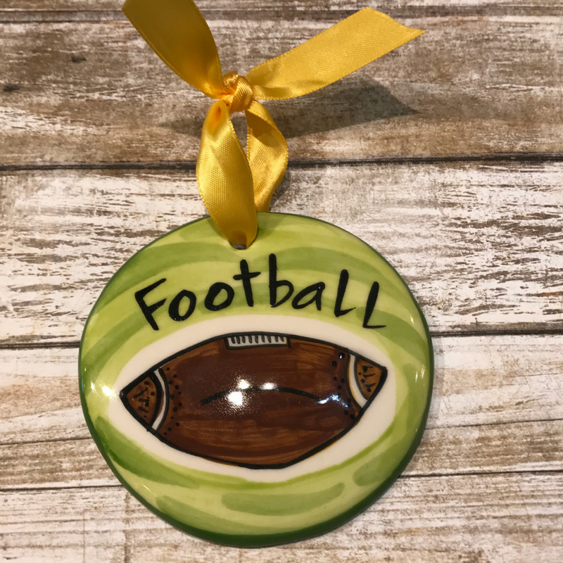 Football Flat Ornament