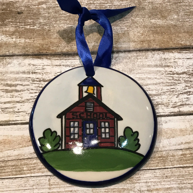 Schoolhouse Flat Ornament