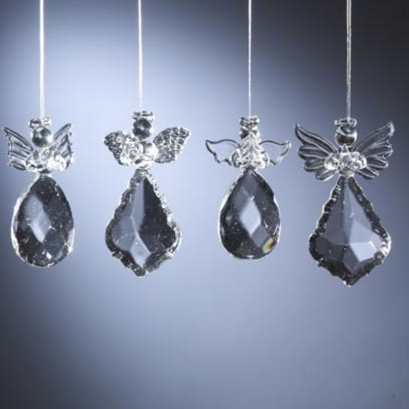Faceted Angel Ornaments