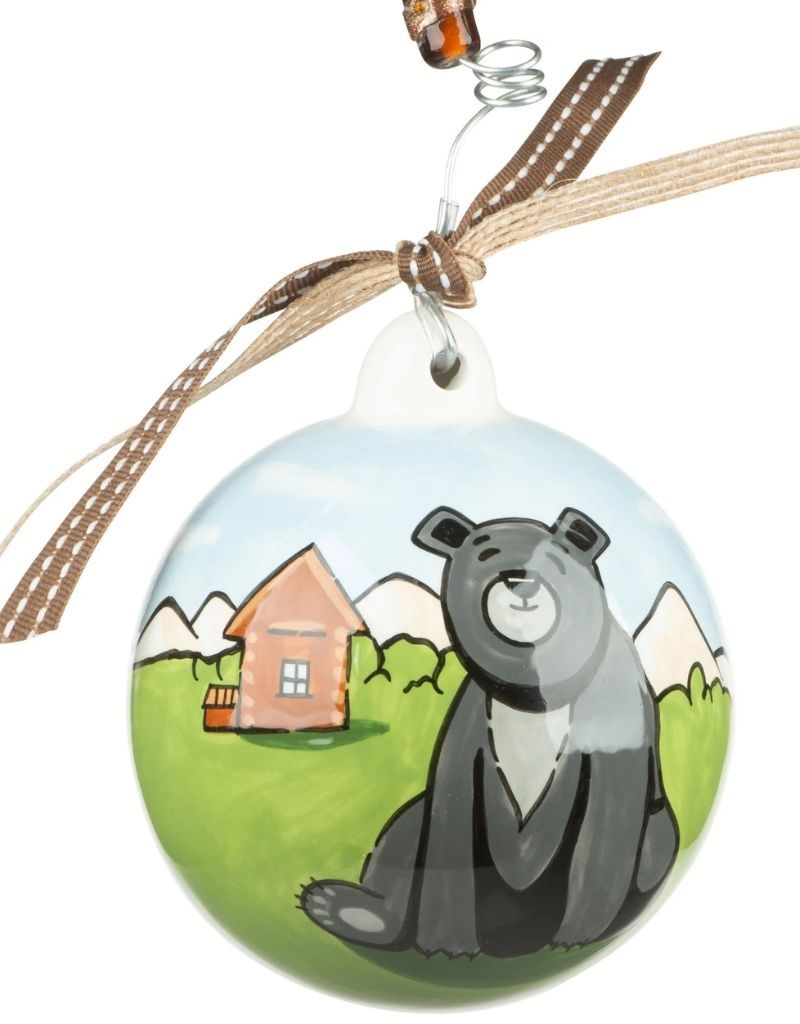 Bear & Cabin Ornament