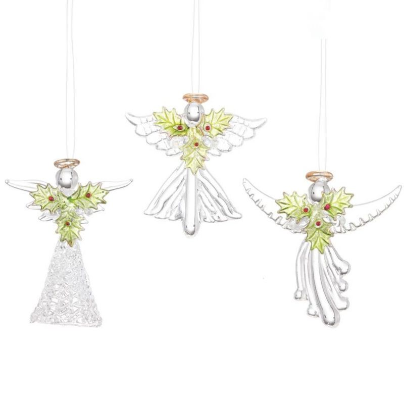 Holly Angels Ornaments