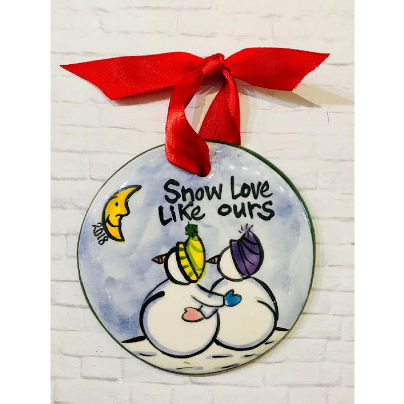 Snow Love Ornament