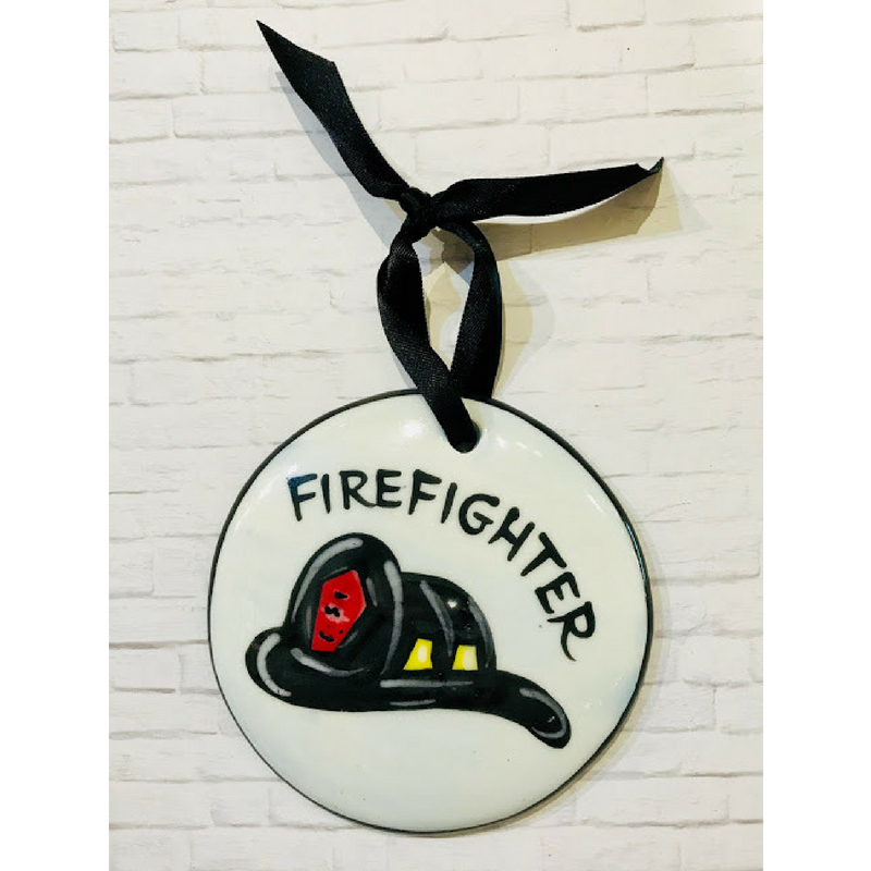 Fire Helmet Ornament