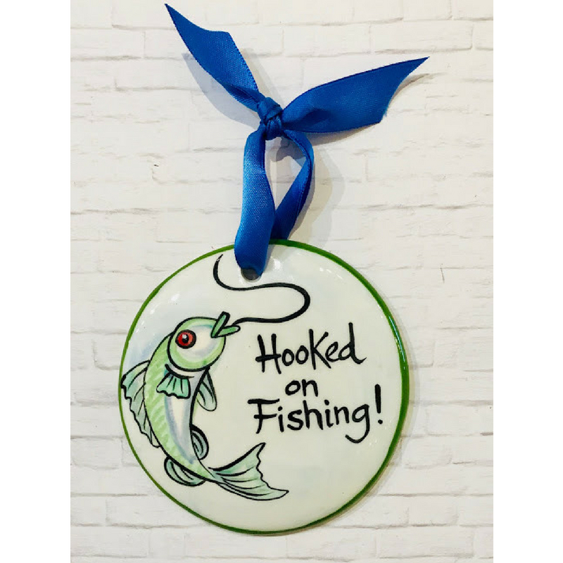 Fishing Flat Ornament