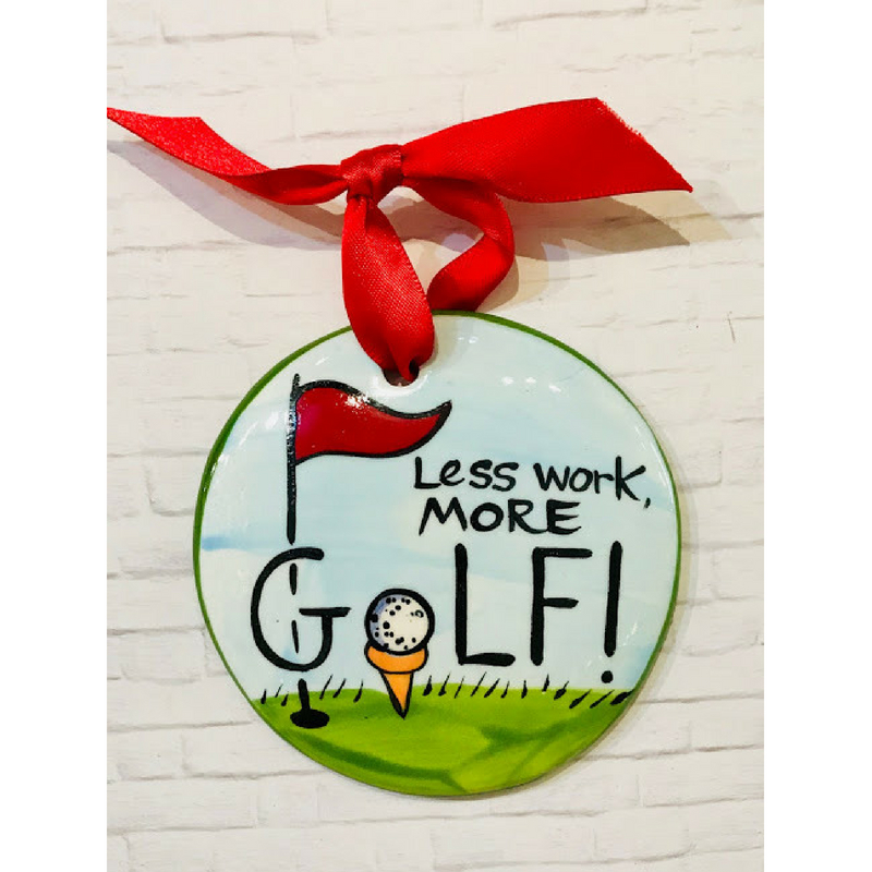Golf Flat Ornament