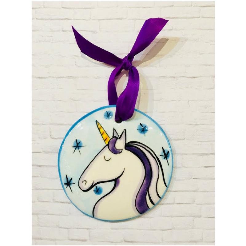Unicorn Flat Ornament