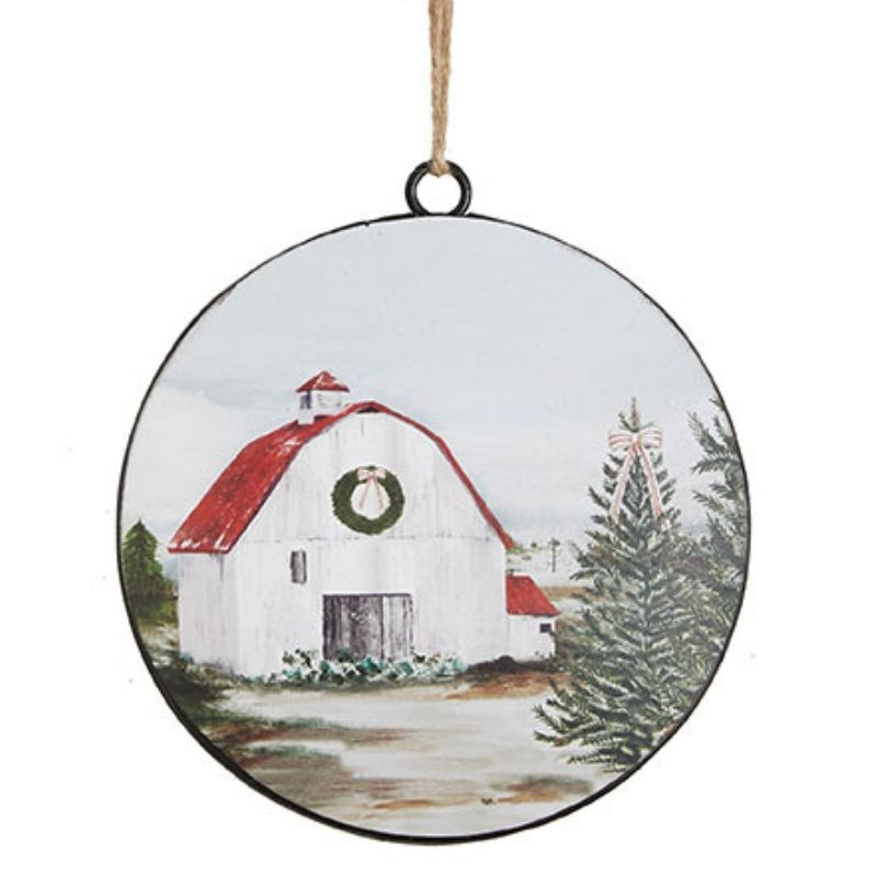 Barn Disc Ornament
