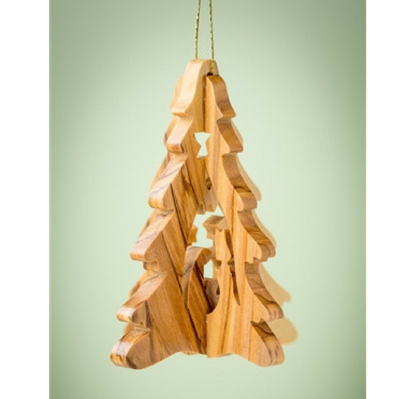 3D Tree w/ Nativity Ornament