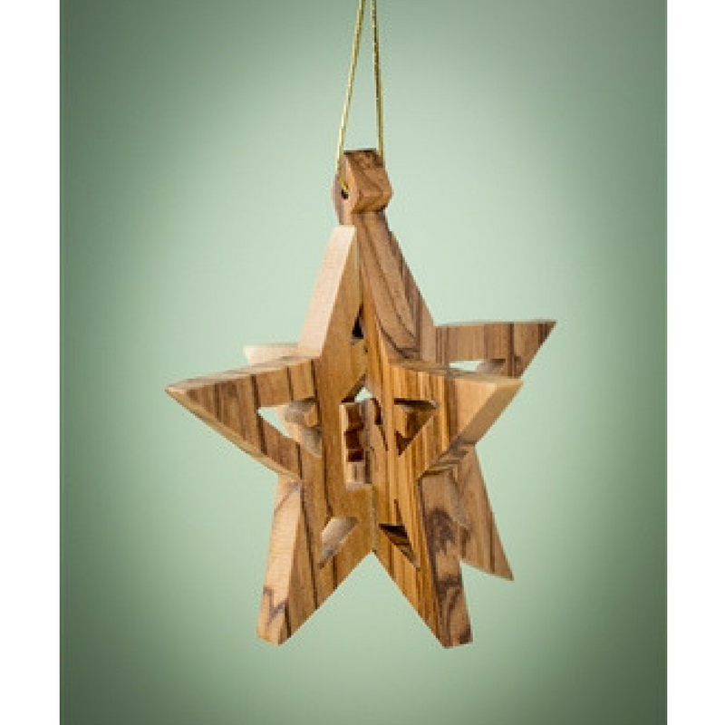 3D Star w/ Stable Ornament