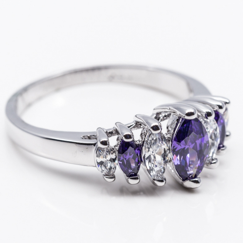 Purple Marquis Ring