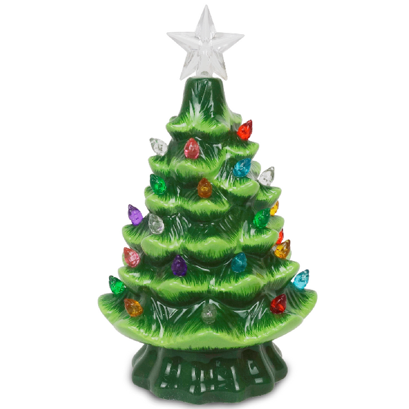 "Green 7.5"" Ceramic Tree"