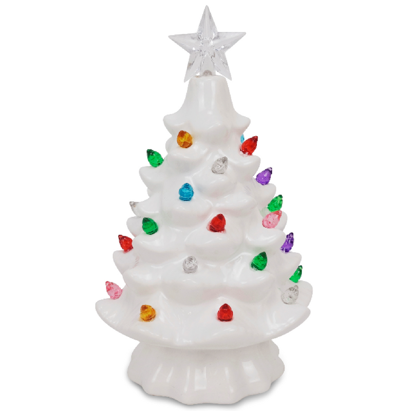 "White 7.5"" Ceramic Tree"