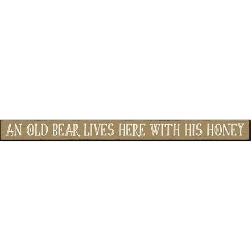 """An Old Bear"" Skinny Wall Sign"