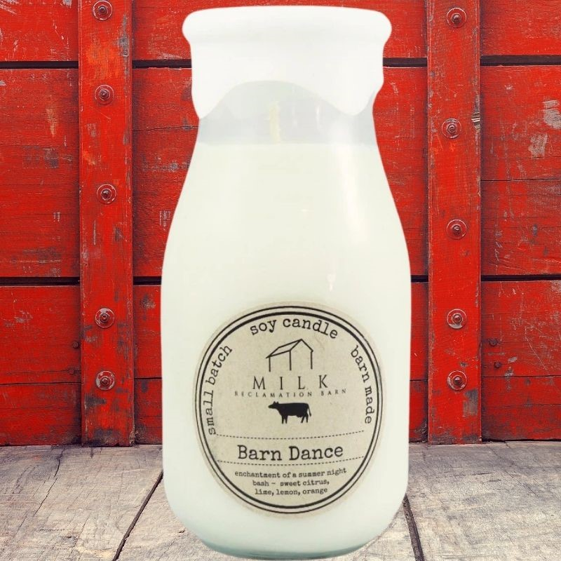 Barn Dance Milk Bottle Candle