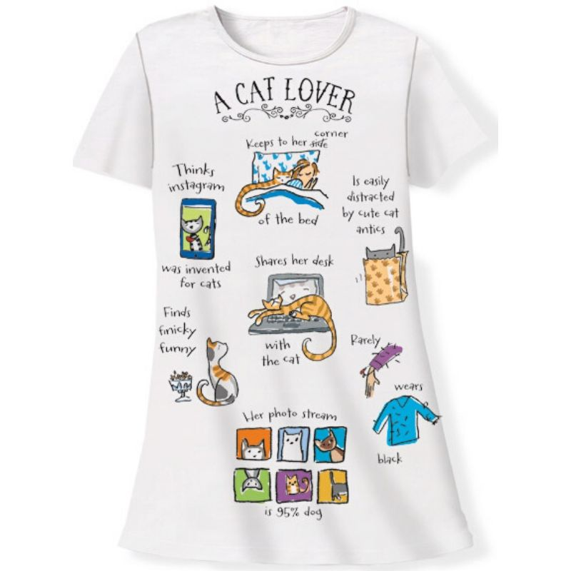 Cat Lover Sleep Shirt