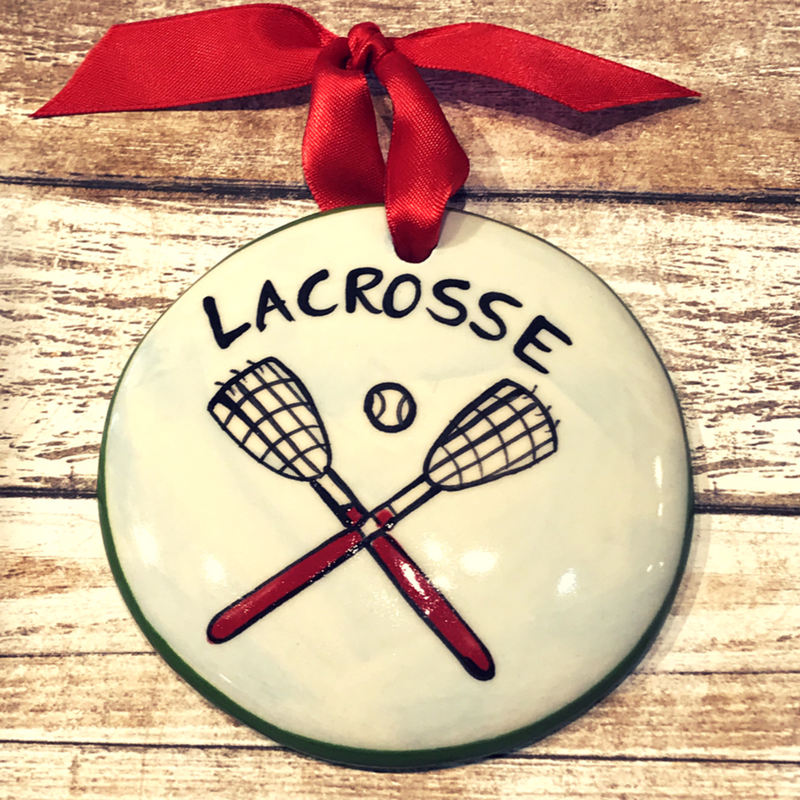 Lacrosse Flat Ornament