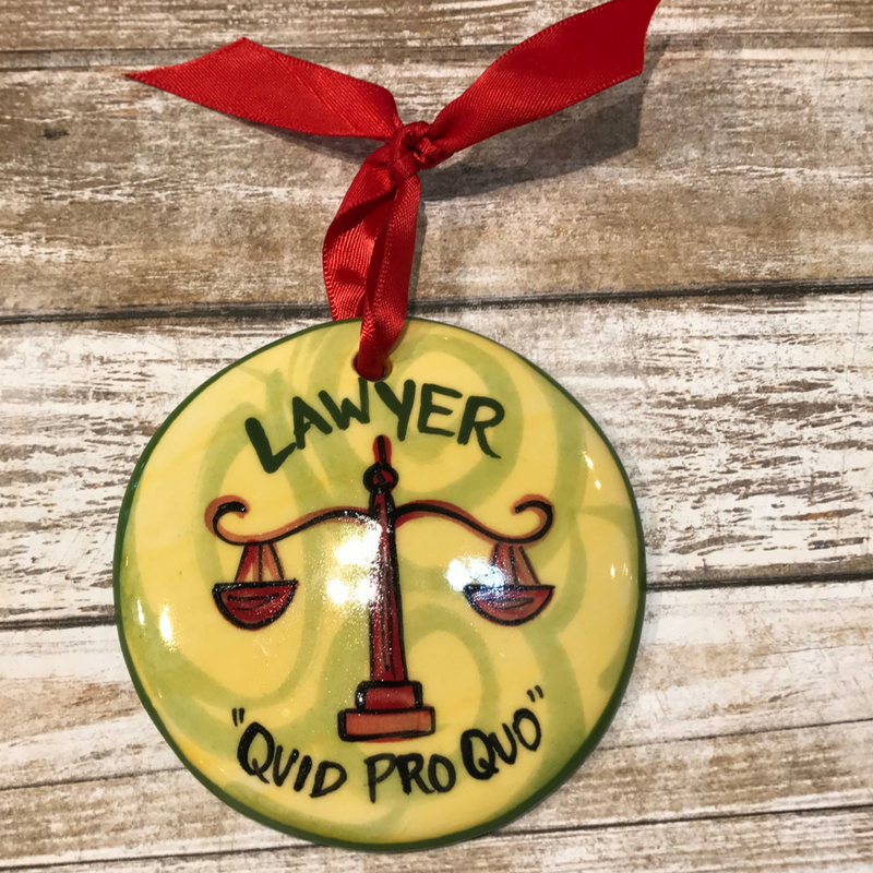 Lawyer Flat Ornament