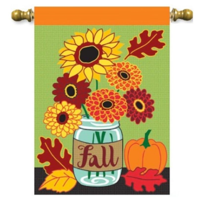 Fall Mason Jar House Flag