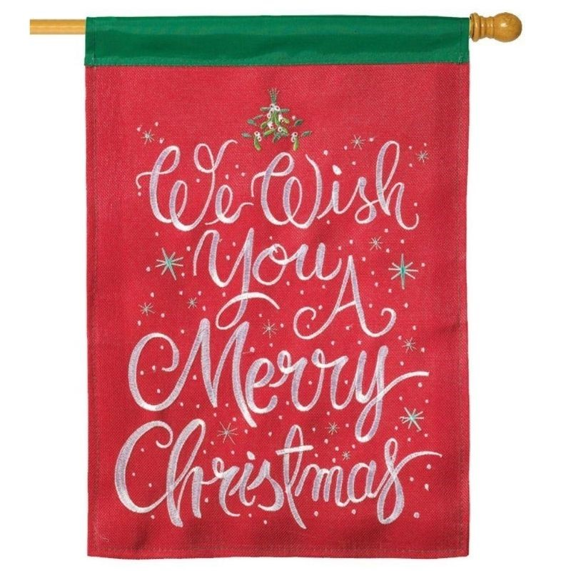 Wish You A Merry House Flag