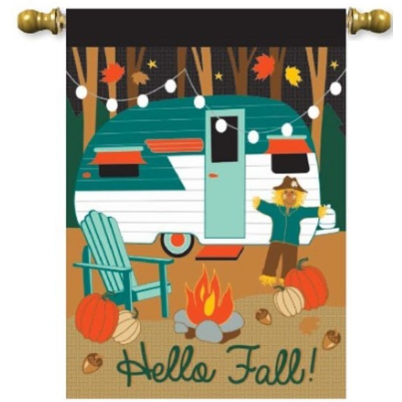 Fall Camper Garden Flag