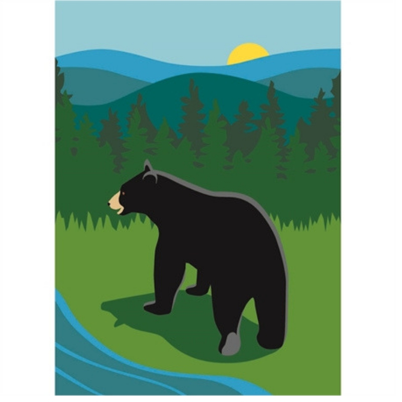 Mountain Bear Garden Flag