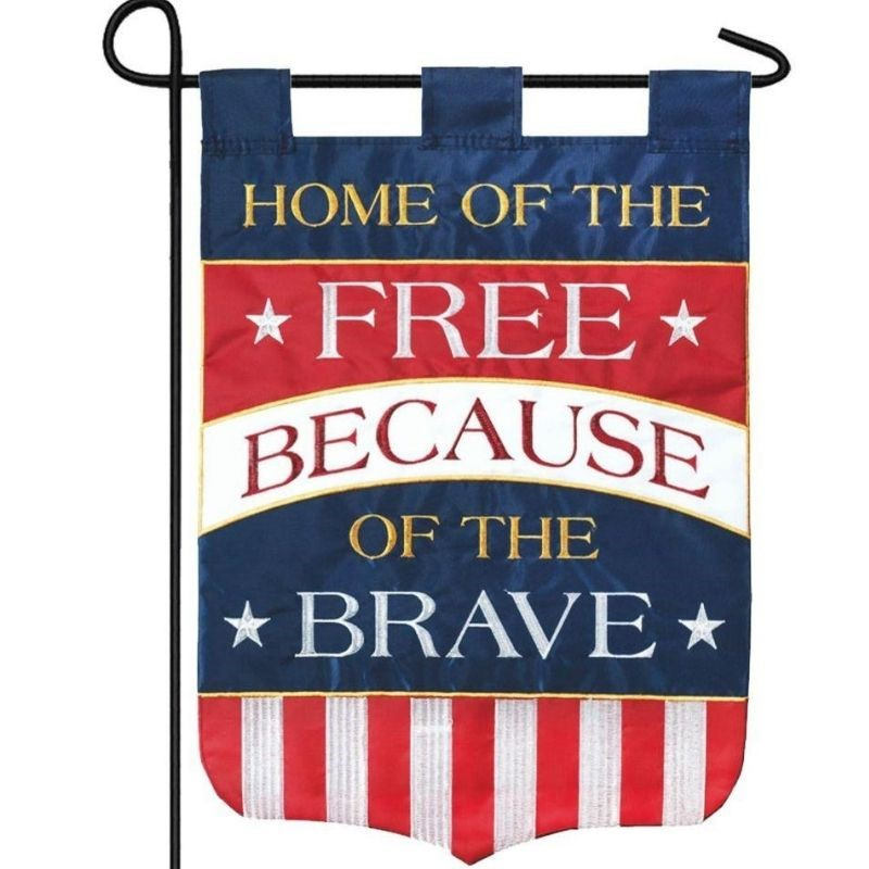 Home of The Free Garden Flag