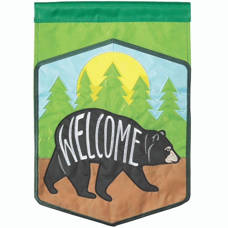 Welcome Bear Garden Flag
