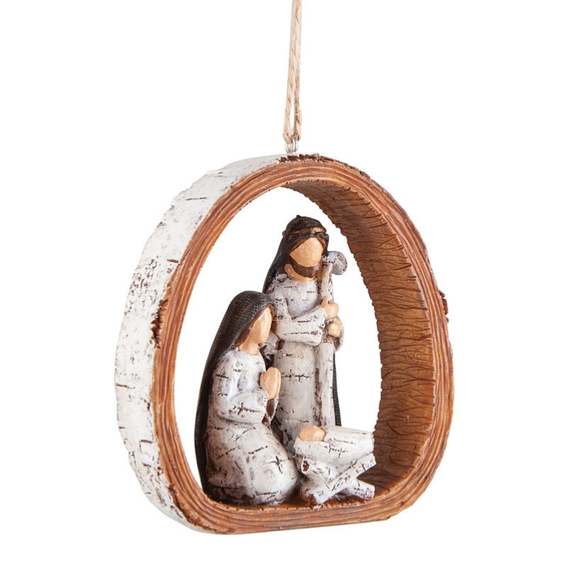 Rustic Nativity Ornament