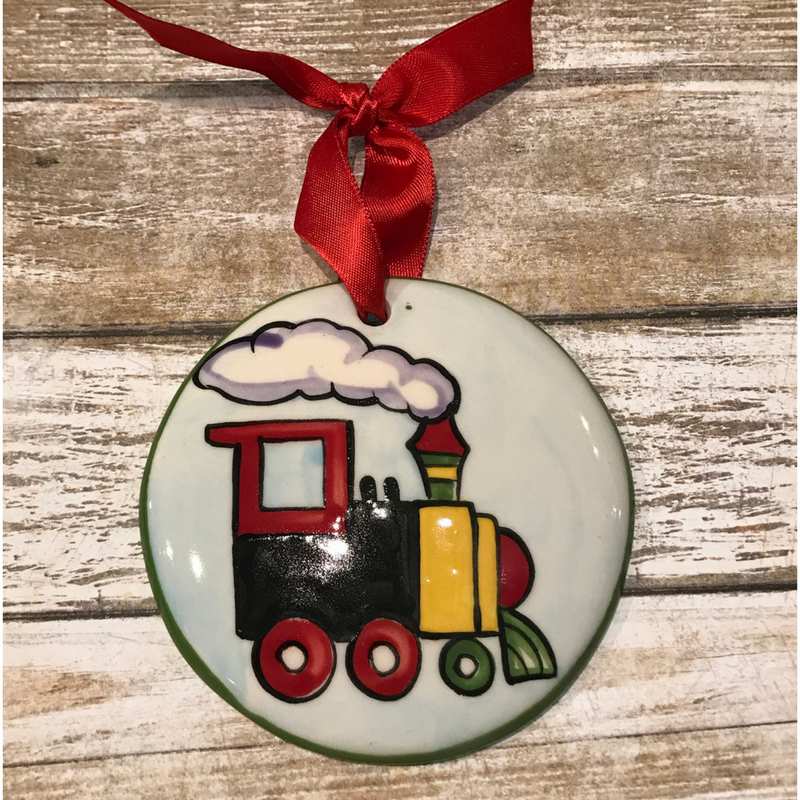 Smoke Train Flat Ornament