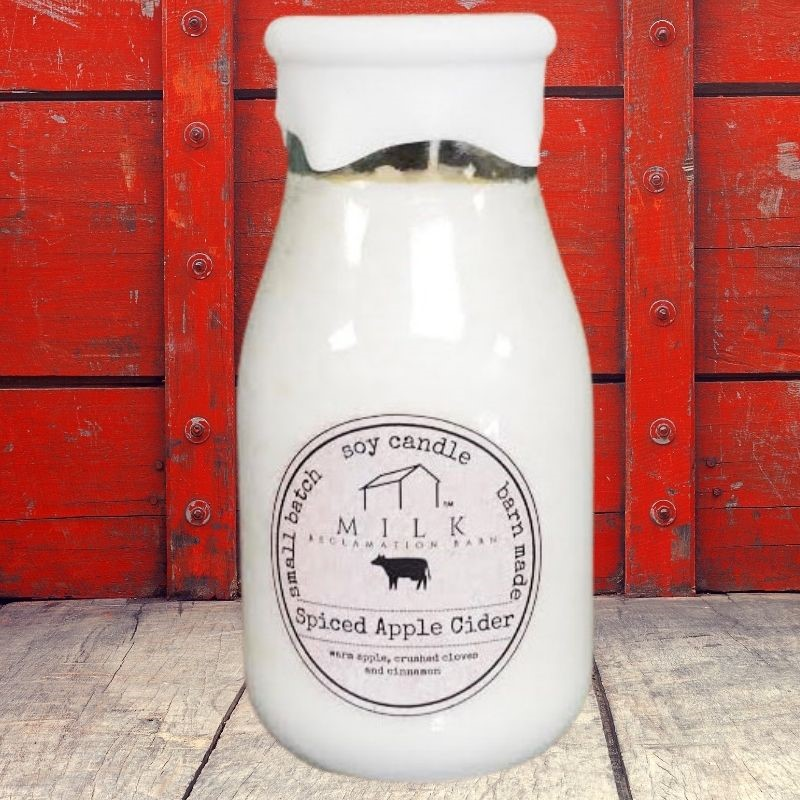 Spiced Apple Cider Milk Bottle Candle