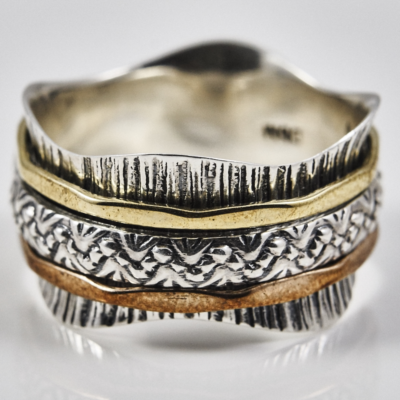 Textured Spinner Ring