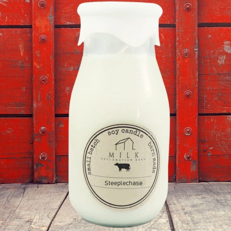 Steeplechase Milk Bottle Candle