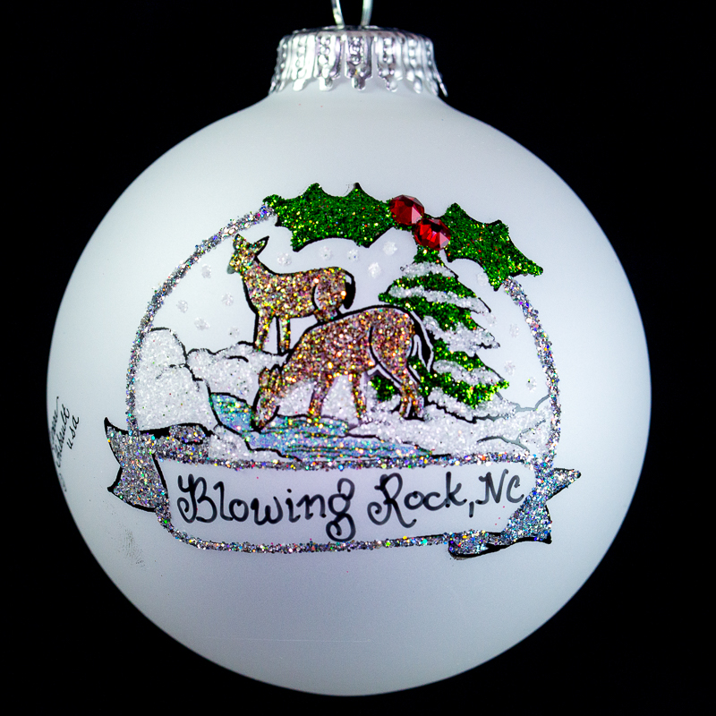 Blowing Rock Deer Ornament