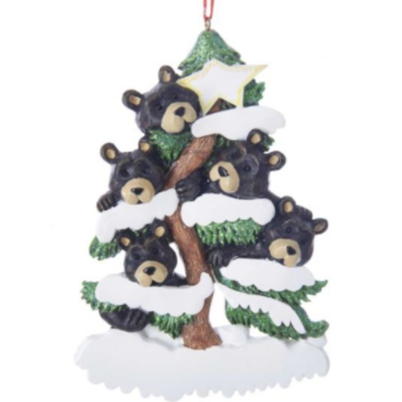Bear Family of 5 Ornament