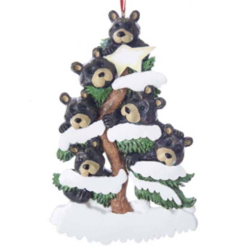 Bear Family of 6 Ornament