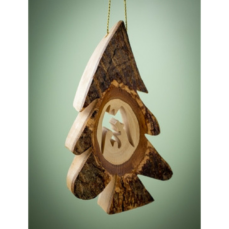 Thick Bark Tree Ornament