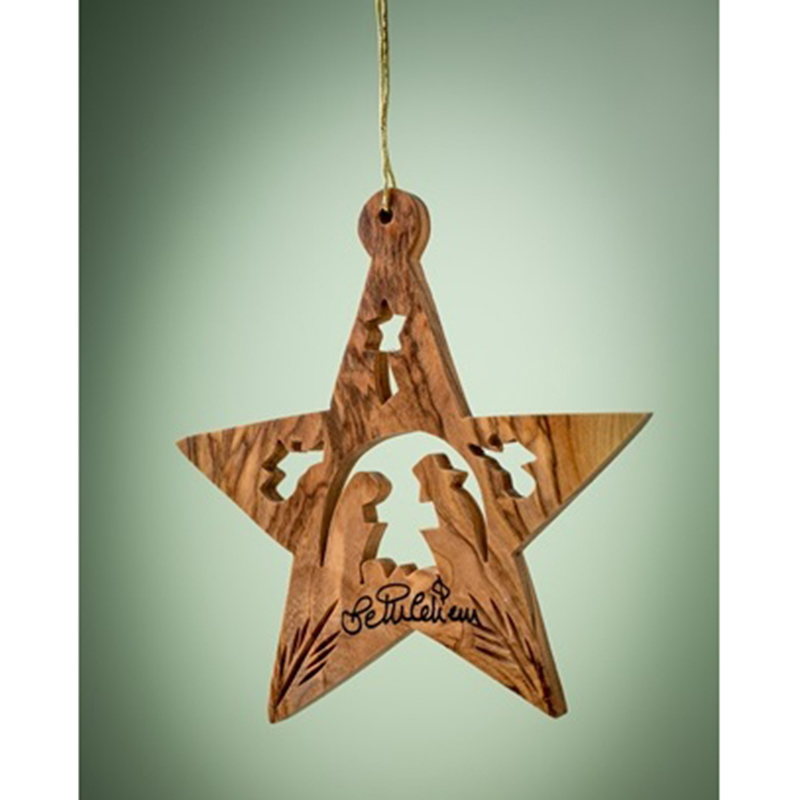 Nativity Star w/ Angels Ornament